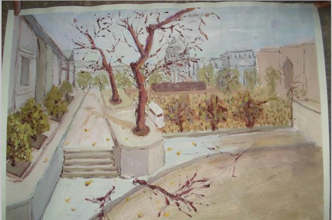 的大学校园_美丽校园绘画作品_美丽校园我的家_关于 ...